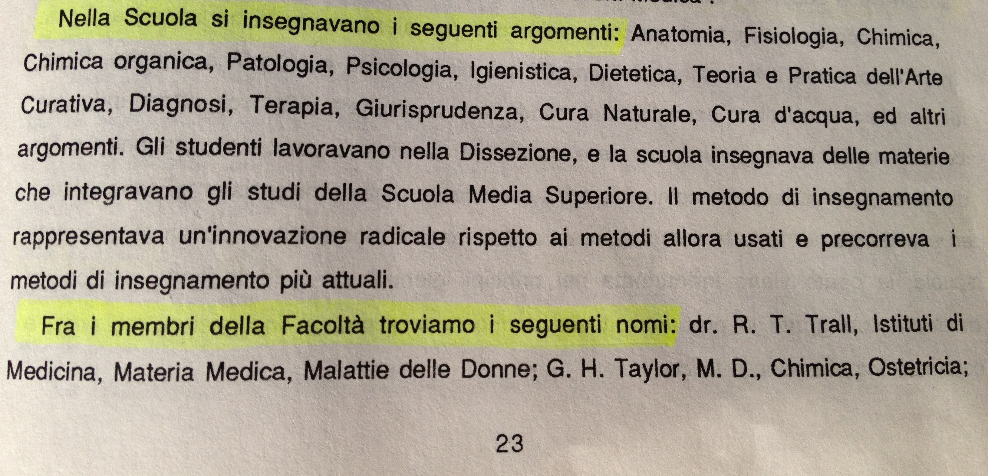 MATERIE DI STUDIO E INSEGNANTI DELLA SCUOLA p. 23